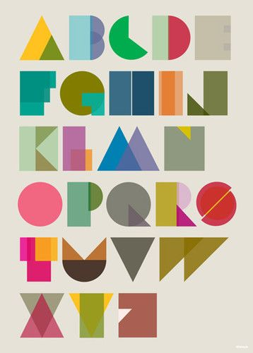 Alphabet poster by Tim Fishlock