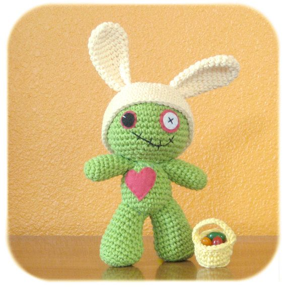 Zombie Easter Bunny! // Etsy Wednesday: 7 Adorable Easter Bunnies, Chicks and Lambs
