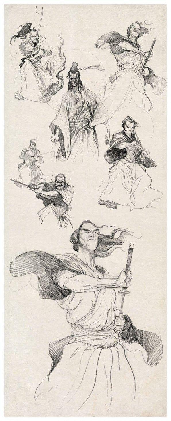 samurais-sketches-braga-diburros ★ Find more at http://www.pinterest.com/competing/ #warrior_illustration #people_illustration