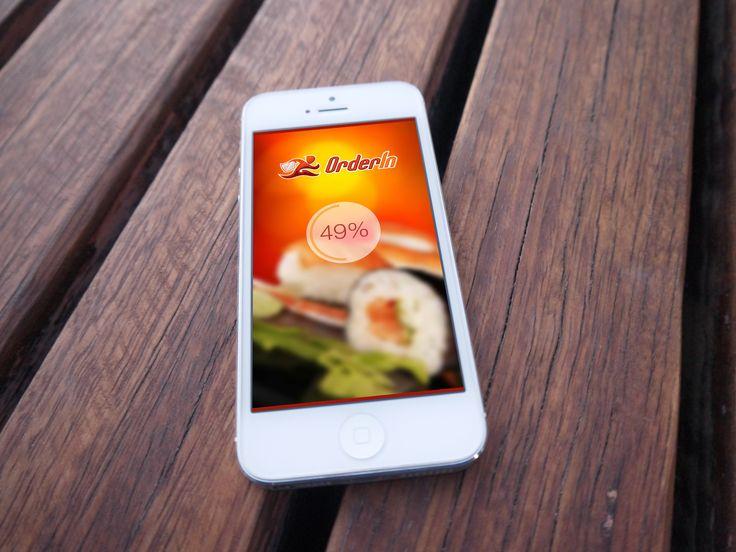 Orderin - Design Concept, Mobile App, Mobile UX, Mobile UI, Loading screen