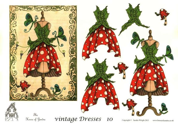 The House of Zandra decoupage - Vintage Dresses 10