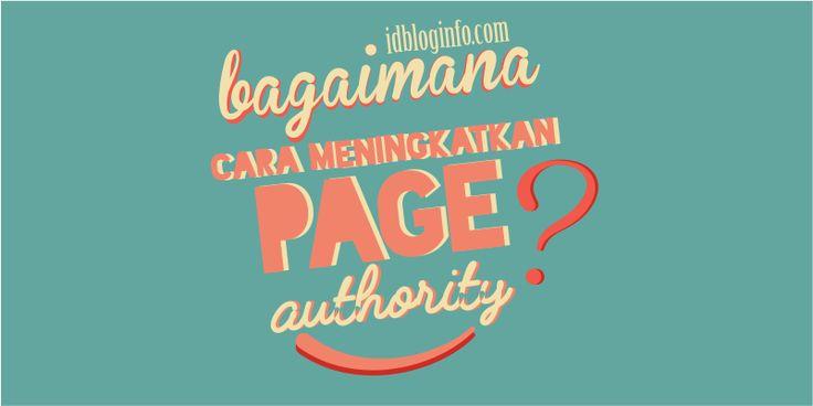 Bagiamana cara meningkatkan page authority?