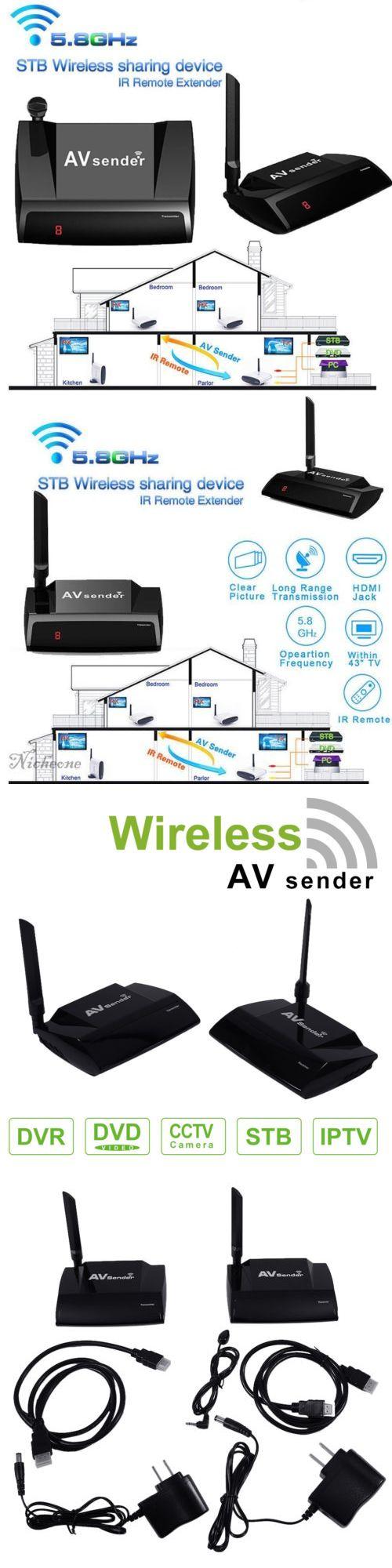 Audio Video Transmitters: 5.8Ghz 300M Hdmi 1080P Av Sender Tv Wireless Transmitter Receiver Audio Video Mu -> BUY IT NOW ONLY: $98.42 on eBay!