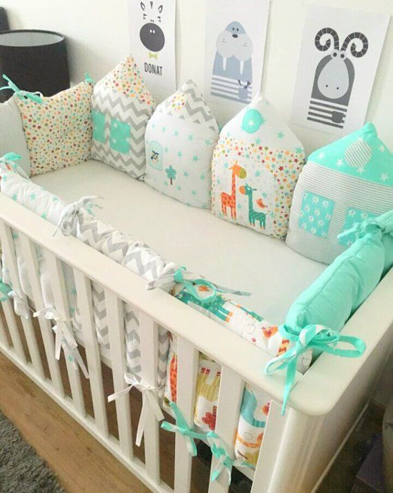 Nursery Baby Cot Tidy Happy Bear Organiser for Crib Cot or Cot Bed
