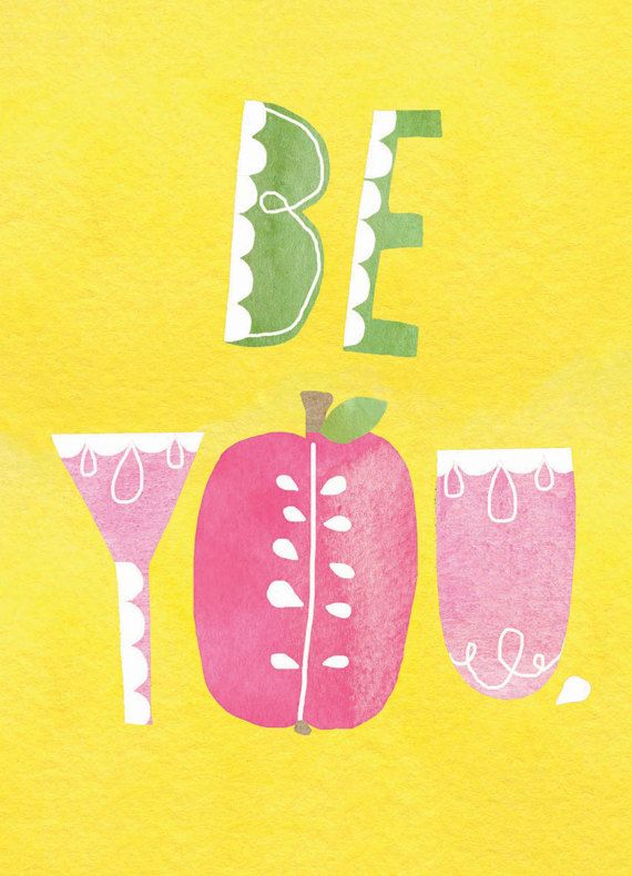 Be You Greeting Card by Lisa Congdon