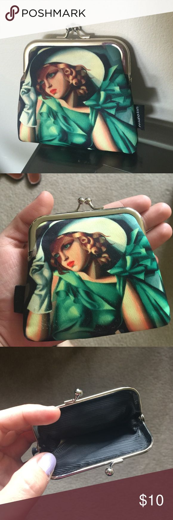 Retro coin pouch never used! Beautiful little coin clutch! I never used it! I bought it in London but never put money in it. Its new. Bags Clutches & Wristlets