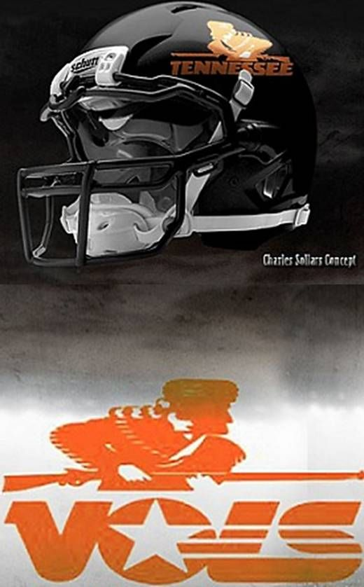 University of Tennessee Volunteers - concept football helmet.  Wonder who would do something first, Tennessee or Michigan?