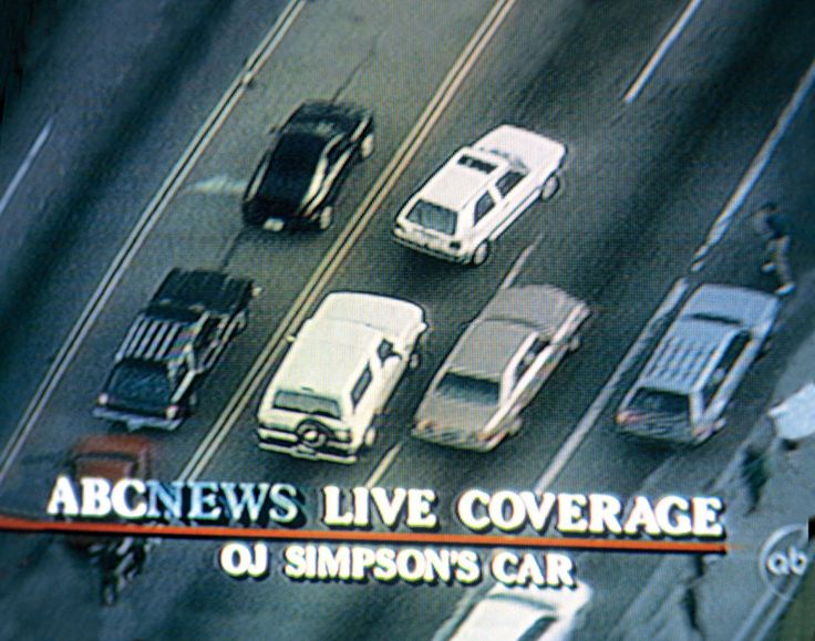 O.J. Simpson - White Ford Bronco slow-speed chase. June 1994.