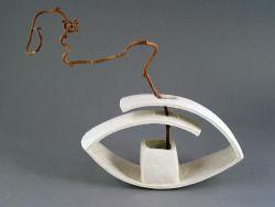 francesc burgos / ikebana vase (#0199) porcelain