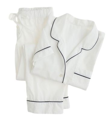 White + Navy PJ Set, J.Crew #classic