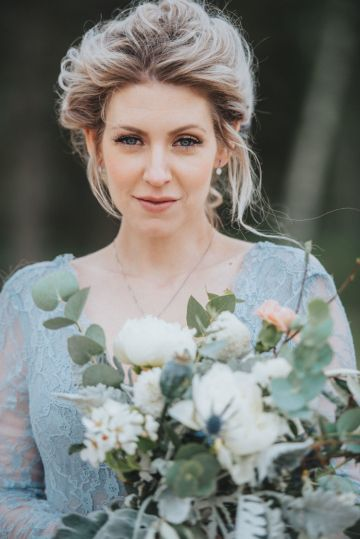 Stormy Scandinavian Wedding Inspiration Featuring a Dramatic Blue Gown | Snowflake Photo 30