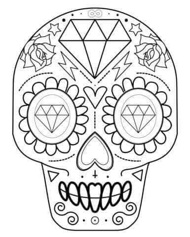 tu tarea: CRANEO PARA COLOREAR | NOVIEMBRE | Pinterest | Skull ...