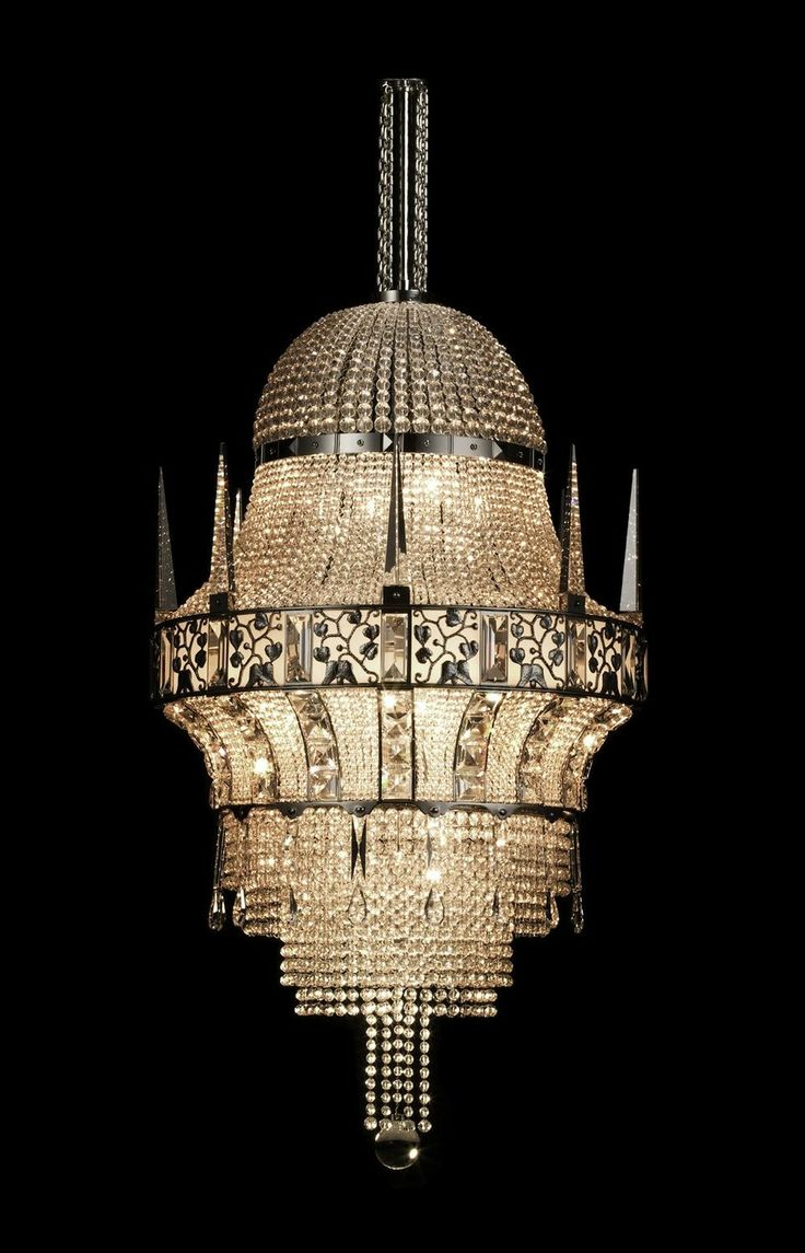 Classic style chandelier - COLOGNE - by Josef Hoffmann - J. & L. LOBMEYR. 1914