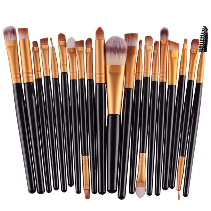20PCS Cosmetic Makeup Brush Lip Makeup Brush Eyeshadow Brush Gold – daniel254