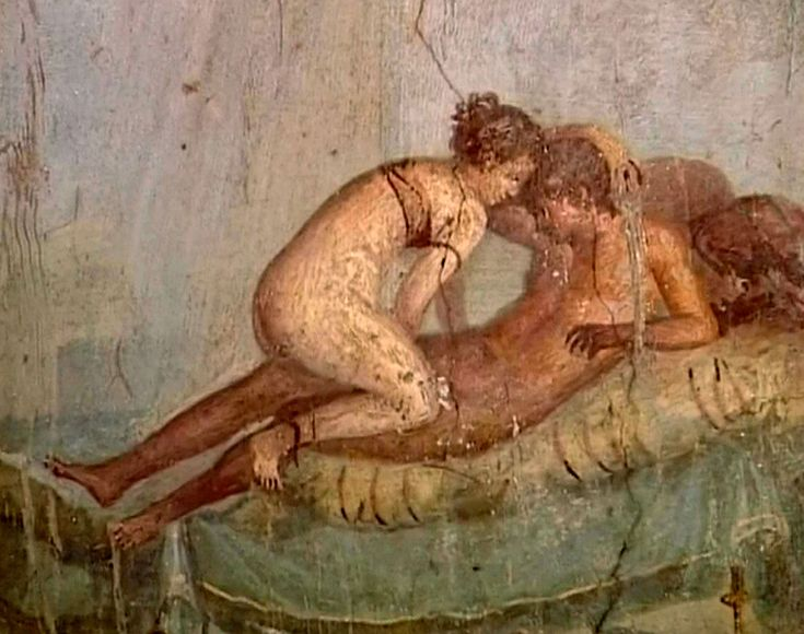 Affresco erotico in un lupanare di Pompei