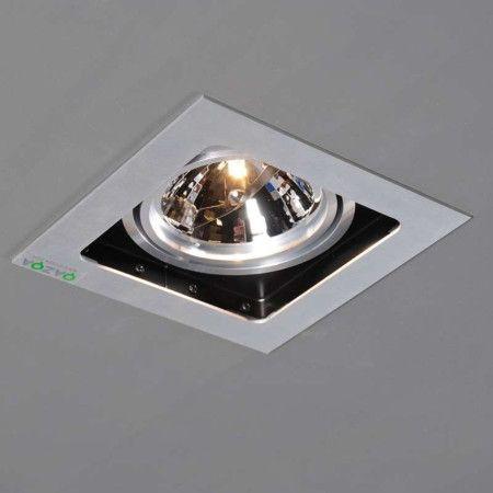 Einbaustrahler Qure 1 Aluminium Luxuriöser Einbauspot mit Hightech-Ausstrahlung! #Einbauleuchte #Lampe #Light #einrichten #Innenbeleuchtung #wohnen