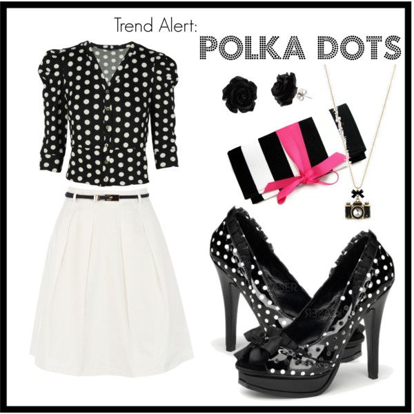 """""""polka dots"""" by shoemegorgeous on Polyvore"""