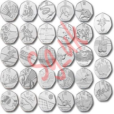 50p #fifty #pence coins olympic games 2012 #football & wrestling & 2009 kew garde,  View more on the LINK: http://www.zeppy.io/product/gb/2/262072915068/