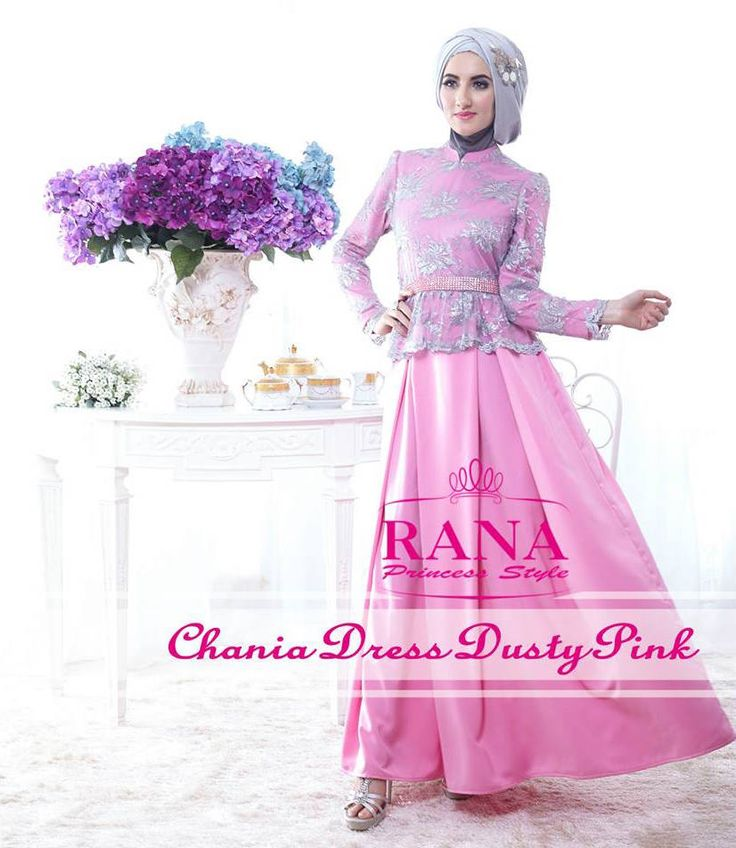 Chania Dusty Pink Elegan http://gamismodern.org/chania-dress-gamis-modern-dusty-pink.html
