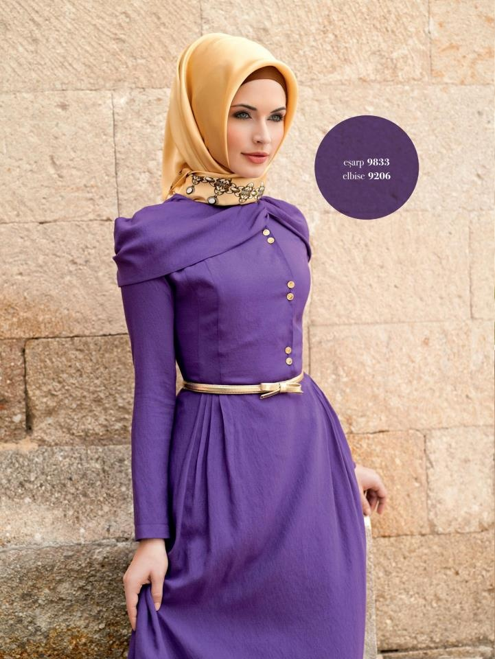 vintage dress and hijab~