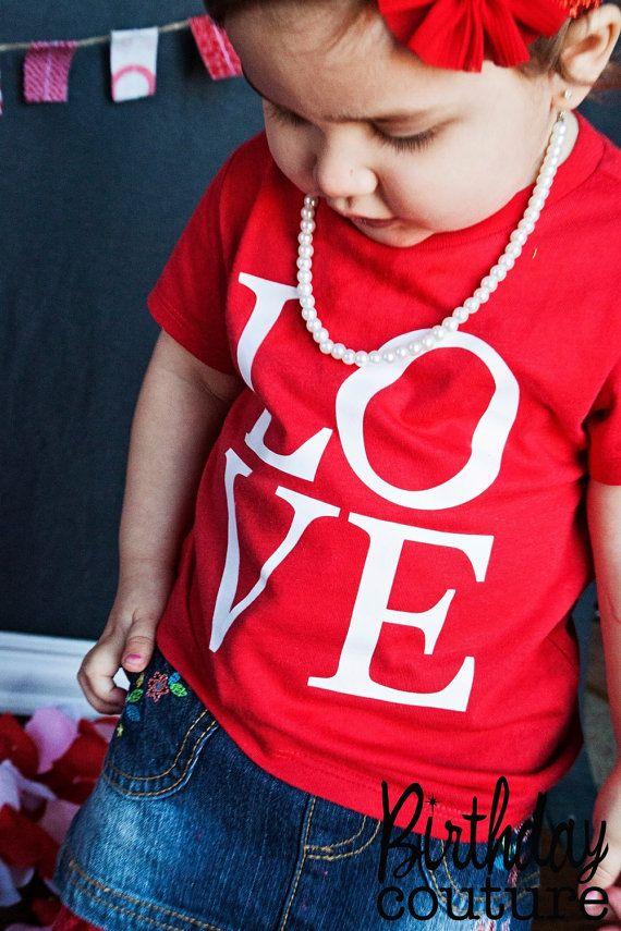 Love Valentines Day Shirt Cute Valentines Day Kids Tee Cute
