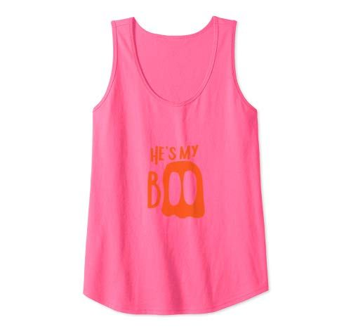 He's My Boo Matching Halloween Partner Costumes For Couples Tank Top