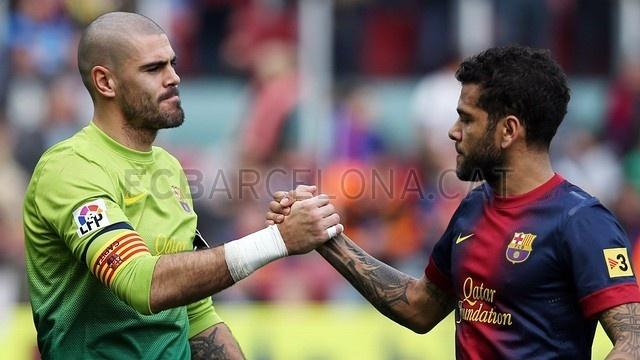 Valdés & Alves, FC Barcelona | 2013-02-10 OTRO BARCELONA 6-1 GETAFE.