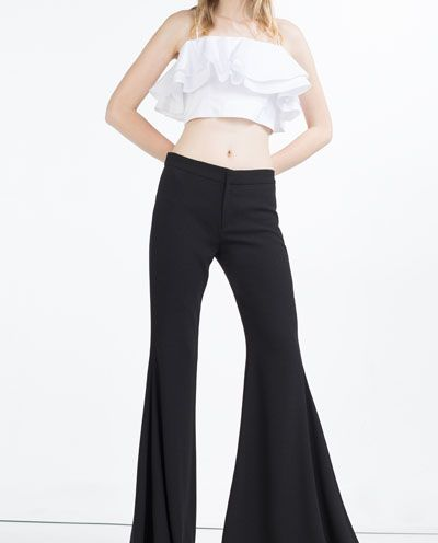 Image 2 of EXTRA FLARED TROUSERS from Zara