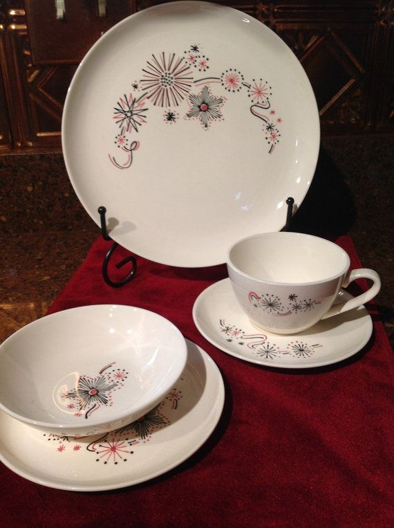 LOVE this MCM retro Stetson China Dinnerware pattern. & 673 best Dinnerware images on Pinterest | High tea Tea time and ...
