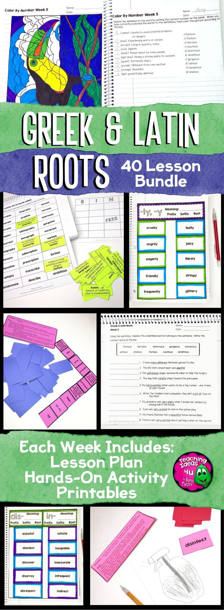 2633 best flippables and interactive notebooks images on pinterest greek latin root study 40 week set bundle great for your 4th 5th robcynllc Image collections