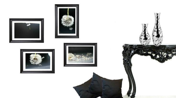 Dente di leone, fotografia, soffione, arte merurale, design, arredo casa, arredo soggiorno, nero e bianco, arredo moderno, decorazioni casa di ItalianFoodAndStyle su Etsy