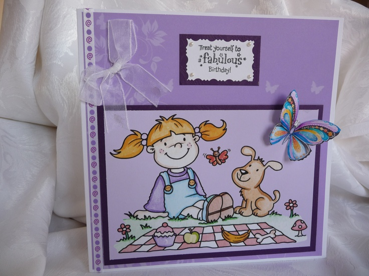 www.paulascardcre... A5 Birthday Card comes with white envelope in a cellophane bag. £ 3 + P