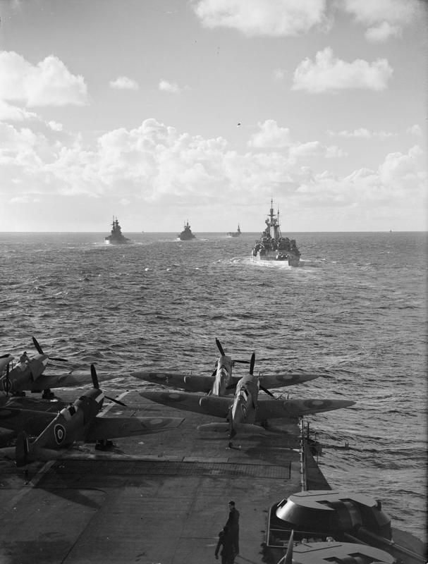 HMS FORMIDABLE with HMS RENOWN, HMS NELSON, HMS DUKE OF YORK and HMS VICTORIOUS 6-9 November, 1942