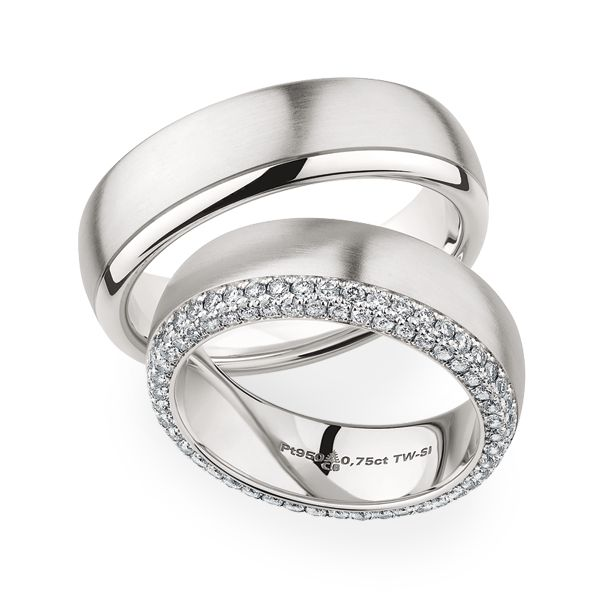 Platinum wedding bands by Christian Bauer