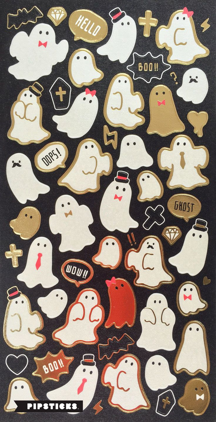 These boo-tiful little ghosts are the perfect sticker to prepare for halloween! Definitely a must have for the holiday.  To see more from the Pipsticks sticker collections go to http://blog.pipsticks.com/japanese-sticker-haul/