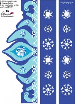 printable crown for Frozen parties