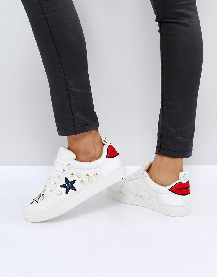 KG KURT GEIGER KG BY KURT GEIGER LIPPY SNEAKERS - WHITE. #kgkurtgeiger #shoes #