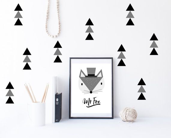 Triangle wall decals triangle decal triangle by SweetSiennaPrints