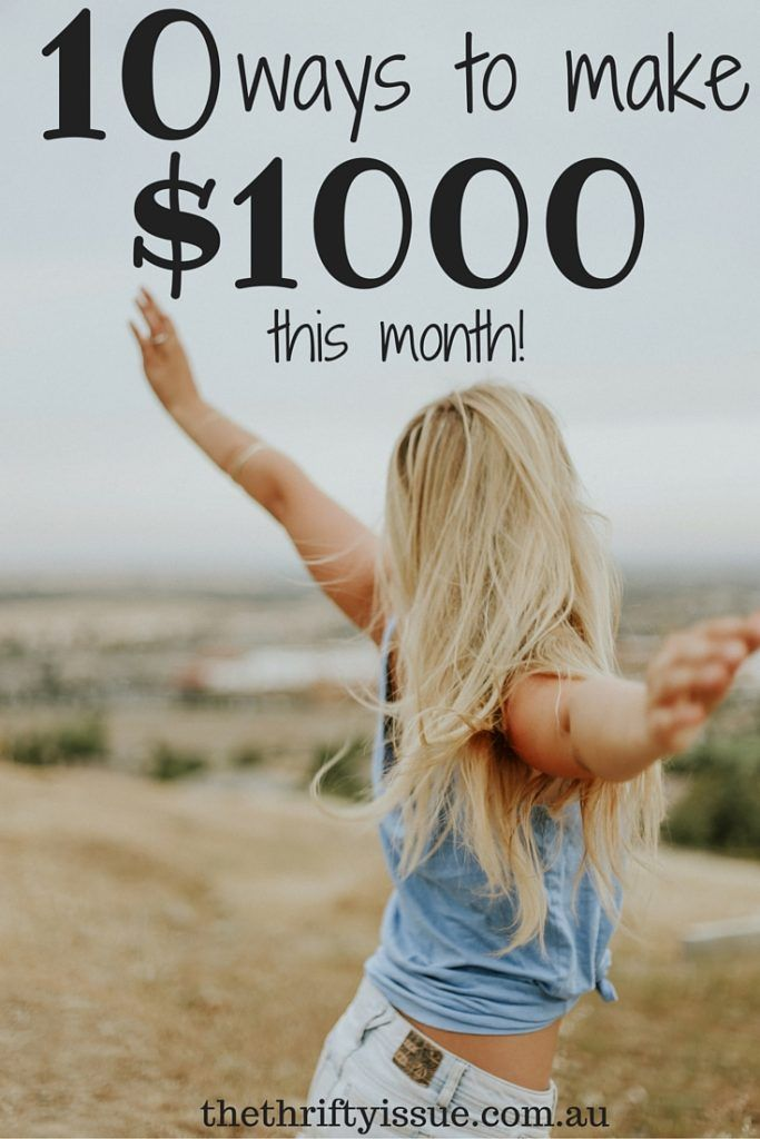 10 ways to make $1,000 this month