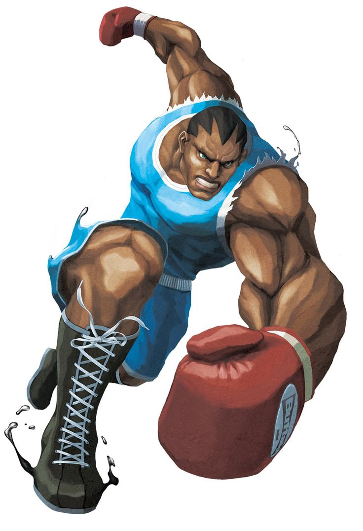 Balrog - Streetfighter; Balrog is a tall, heavily built and very muscular African-American boxer. His main reasons for joining Shadaloo & M. Bison has always been about money. When Street Fighter II was localized in U.S, Capcom was afraid of a lawsuit from Mike Tyson over a character with his likeness & a similar sounding name (his Japanese name being Mike Bison, hence Tyson/Bison). Therefore in U.S, he is named Balrog.