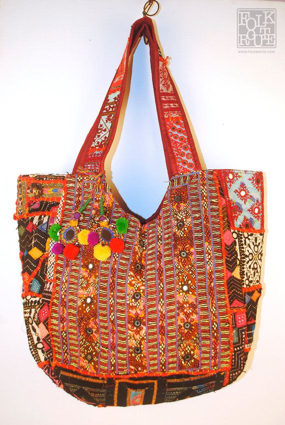 Banjara Kutch Authentic Tote Bag by FolkRoute on Etsy