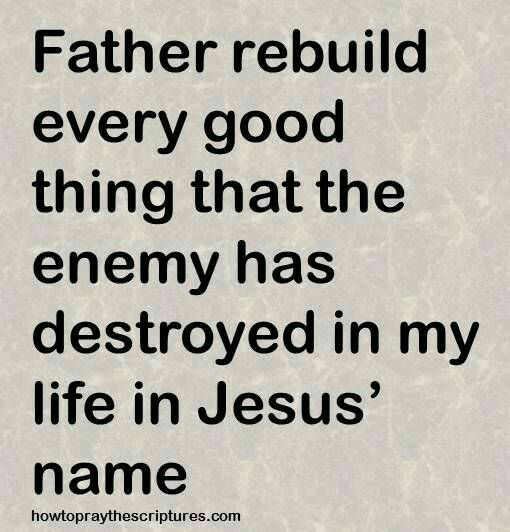 Restoration Prayer