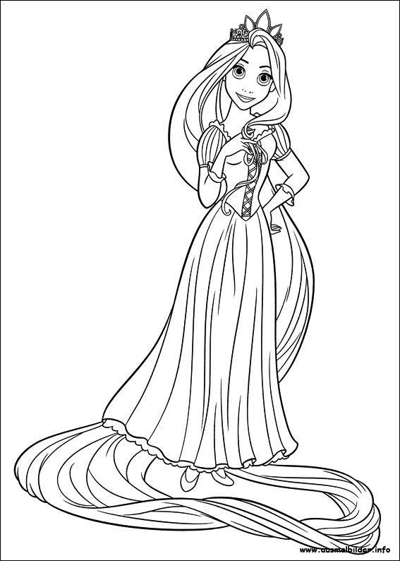 Rapunzel malvorlagen Tangled coloring pages Disney