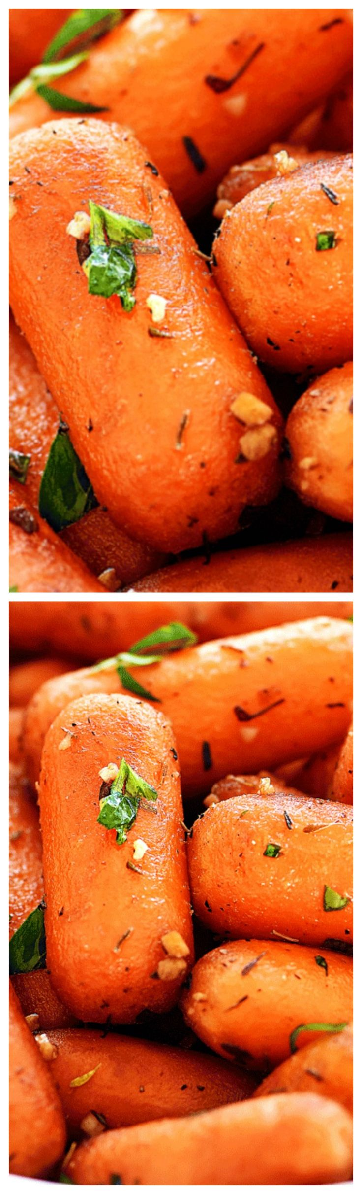 Garlic Roasted Carrots ~ Delicious oven-baked carrots that are loaded with flavor!
