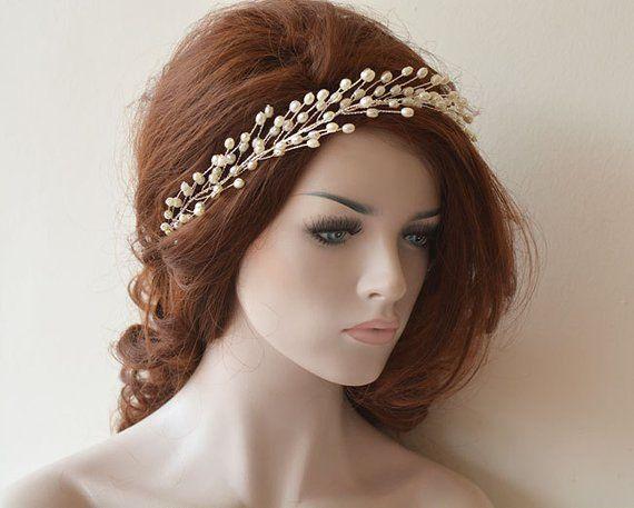 Pearl Wedding Headband Bridal