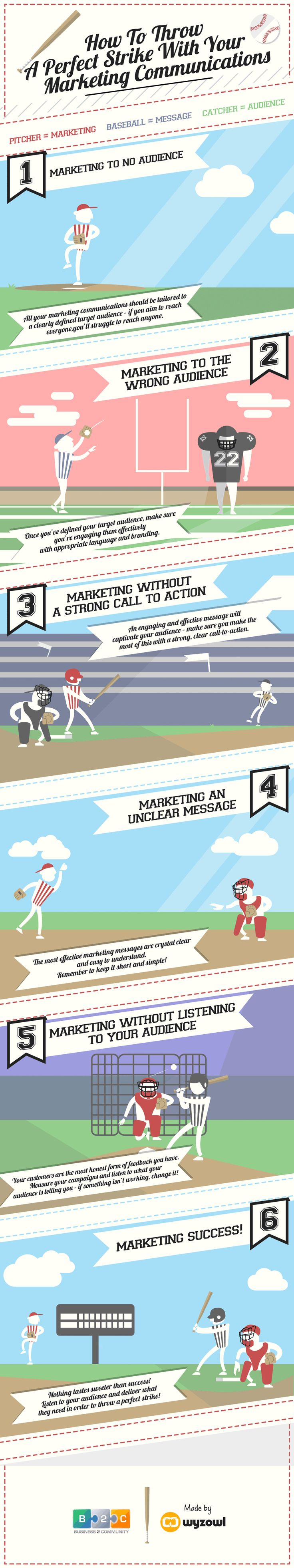 How To Throw A Perfect Strike With Your #Marketing #Communications - #Infographic
