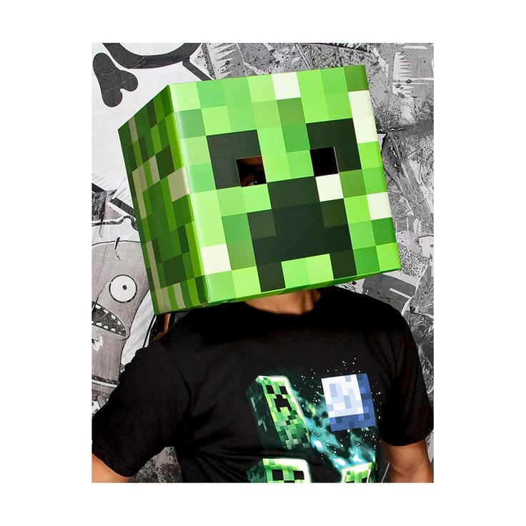 Minecraft Men's Creeper Head Mask