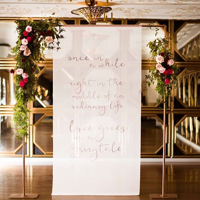 Wedding backdrop / Wedding Arbour / Modern Wedding Signage / Wedding love Quote Sign / Rose Gold Wedding