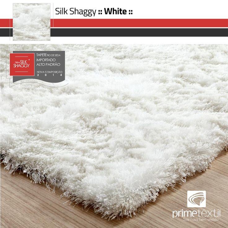 Tapete Silk Shaggy Branco (Fio de Seda) :: Prime Têxtil - R$ 597,00