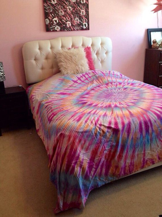 High Quality Custom Tie Dye Bed Sheet Sets And Pillow Cases By KBuckCreations, $10.00